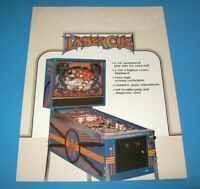 Laser Cue Pinball FLYER Original Williams 1984 Flipper Game Artwork Non Stamped