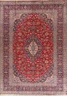 Excellent Vintage Traditional Floral Red/Navy Ardakan Hand-Knotted Area Rug 8x11