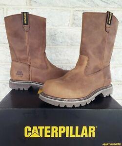 "Caterpillar CAT Womens 10"" Revolver Steel Toe Work Boots Size 9.5 P90418 $133"