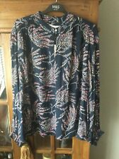 M&S Navy Floral Blouse Size 18 BNWT