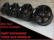 "2693 Genuine 18"" Audi TT 7 Spoke Black Alloy Wheels 8J0601025AC"