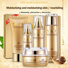 5pcs Facial Skin Care Set Snail Mucus Extract Moisturizing Cleanser Cream Kit