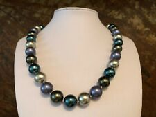 Muschelkernperlen Collier Kette Länge 55 cm ! Perlen MULTI ca  14 mm !