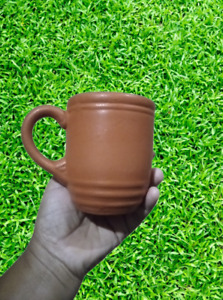Hand made pottery clay mug drinking tea coffee and water mug with  handale
