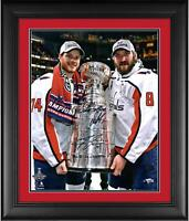 Alex Ovechkin & John Carlson Capitals 2018 Champ Frmd Signed 16x20 Photo & Inscs