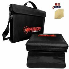 Fireproof Document TWO Bags Waterproof w/Shoulder Strap & File Folders
