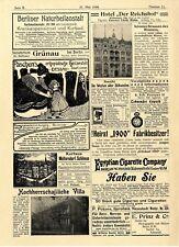 Histor. Immobilien-Heirats-Stellen-Annoncen Berlin Grünau Westpreussen u. a.1899