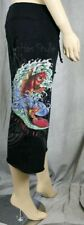 ED HARDY Women's Black Koi Fish Capri pants NWT M