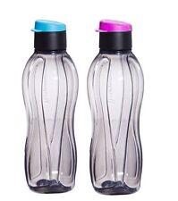 Tupperware 310 ML ECO Aquasafe Flip Top Black Water bottles- Set of 2- New!