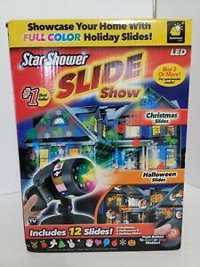 Star Shower Slide Show LED With 12 slides W/2  Halloween Slides - New Open Box