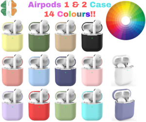 For Apple Airpods 1 / 2 Case Silicone Cover Skin AirPod Earphone Charger Case