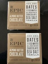 EPIC Perfomance Bar Almond Butter Chocolate 2 Boxes 8- 1.87 Oz Bars