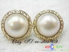 p23 Amazing @@20mm white Southsea Mabe Pearl Earring