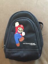 Nintendo DS Black Mario Storage Case ~ Backpack