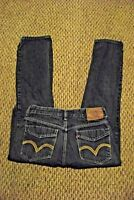 boys juniors levis 514 slim straight faded dark wash denim jeans sz 18 28 x 29