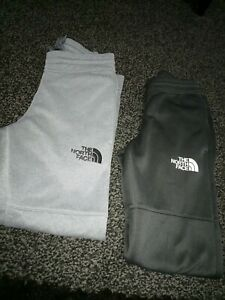 2 pairs The North Face Boys Joggers Tracksuit Bottoms Size small Youth junior