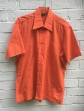 Vintage Orange Sleeve Shirt, Large Collars. Size M Excellent Condition.