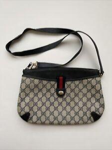 GUCCI Vintage Accessory Collection GG PVC Sherry Shoulder Bag 904 02 026 JUNK