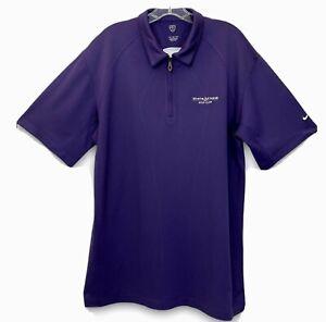 Nike Golf Sphere Macro React Mens XL Purple Shirt White Stone Golf Club 1/4 Zip