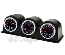 52Mm Oil Pressure+ Oil Temperature + Rpm+ 3X Port Triple Pod Holder Led Tint