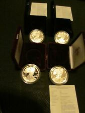 1988-1993-1994-1995-1998 SILVER EAGLES PROOF WITH BOX AND COA 7 COINS US MINT