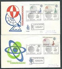 1978 VATICANO FDC VENETIA 153 POSTA AEREA TELECOMUNICAZIONI TIMBRO ARRIVO SV5