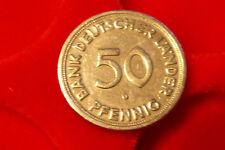 """BRD 50 Pfennig """"Bank Deutscher Länder"""" 1950 G   -Originalmünze-"""