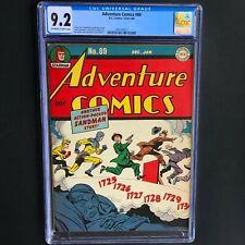 ADVENTURE COMICS #89 (DC 1943-44) 💥 CGC 9.2 💥 ONLY 2 HIGHER! Sandman Story