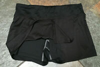 CHAMPION DUO DRY Large Black Tennis Golf Skirt Skort w Shorts Zip Pocket EUC