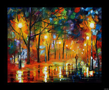 Vintage Rain Landscape Woods Abstract Oil Painting Canvas Wall Art Print US