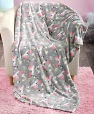 "Unicorn Novelty Plush Throw Blanket Kids Bedroom Decor 50"" x 60"" Home Decor"