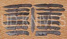 LOT OF 15  UD HANDMADE 1095 DAMASCUS ART FULL TANG HUNTER KNIFE  BLADE LOT 10439