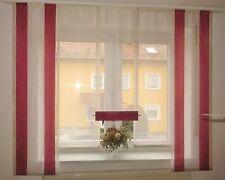 Gardinen - Set  5 teilig  neu-modern 6 Farben Flächenteile Schiebevorhang