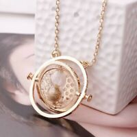 Harry Potter Time TurnNecklace Hermione Granger Rotating Gold Hourglass GIFT BAG