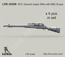 Live Resin 35206 1/35 M1C Garand Sniper Rifle with M82 Scope