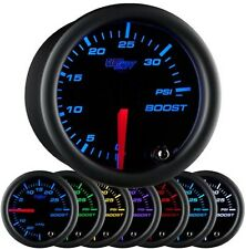 52mm GlowShift Black 7 Color 35 PSI Turbo Boost Gauge - GS-C701-35