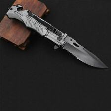 Outdoor Multi-function Military Folding Stainless Steel Tactical Knife Tool New