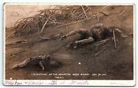VTG 1911 Postcard PHILIPPINES VOLCANO TAAL Manila Bodies Morbid RPPC Photo A9