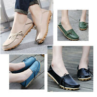 Fashion New Women Solid  Leather Shoes Loafers Soft Leisure Flats Female Casual