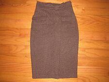 Diane von Furstenberg Brown Polka Dot Marple Pencil Skirt 6