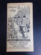 Vintage tourist travel brochure french France Paris London rates schedule 1909