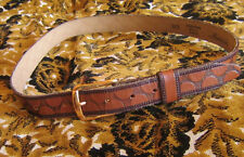 True Vintage 60s Rude Boy Brown Marwick Belt sz 30 SMALL S CORDOVAN SHELL