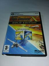 Microsoft Flight Simulator X Gold Edition PC DVD Discs Near Mint