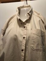 Woolrich Mens Vintage 2XL Flannel Button Down Long Sleeve Shirt Made In USA 100%