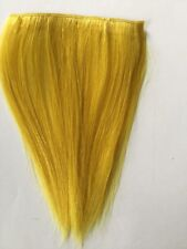 """8"""" Clip in Human Hair Extensions Streaks Choose Pink,Yellow,Green,Red,Dark Red"""