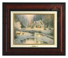 Thomas Kinkade - Deer Creek Cottage – Canvas Classic (Burl Frame)