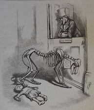 Thomas Nast. Waiting. Skeletal Democratic Wolf. Harper's Weekly, 1876.