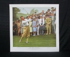 Bobby Jones 1930 US Open Interlachen Golf Alan Zuniga Golf Lithograph