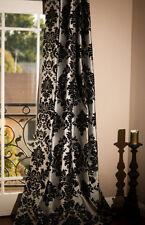 "2 Damask Panel Drapes 57"" x 108"" Photography Backdrop Studio Window Curtains"