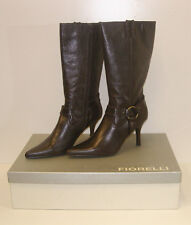 FIORELLI WOMENS POINTY WINTER BOOTS MATANA CHOC SIZE 11 LEATHER LADIES rrp $279